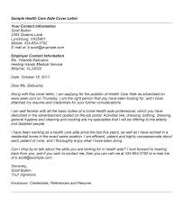 Health Care Aide Cover Letter With Experience Cover Letter Sample