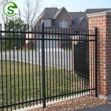 black color garden fencing panels small