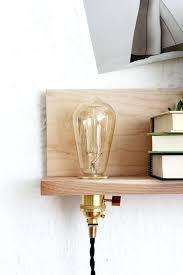 floating shelf with lights diy shelves led