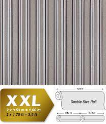 Strepen Vlies Behang Xxl Edem 999 34 Snelbehang Luxe Metallic Effect