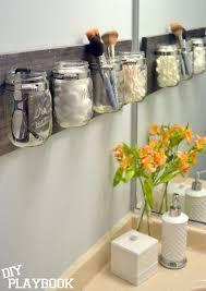 diy mason jar makeup holder decorate the mason jars and attach them to a wood