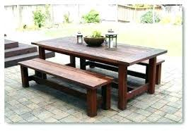 Diy pallet outdoor dinning table Benches Outdoor Dining Table Stunning Design Ideas And Chairs Bench Temporary Pallet Diy With Cooler Tabl Mtvlaco Diy Outdoor Dining Table Mtvlaco