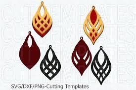 faux leather earring svg leather earring template oriental jewelry laser cut faux leather earring svg