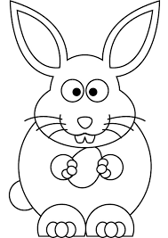 free easter bunny drawing page
