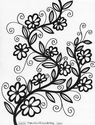 Small Picture Printable Coloring Pages Flowers Great Detailed Flower Coloring