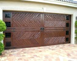 build a garage door dark wood chevron pattern custom garage door build garage door frame build build a garage door