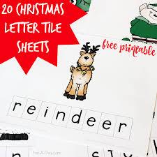 Free Printable Christmas Letter Tile Sheets