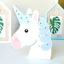 led lighting wall decor baby shower favor birthday party unicorn kids decoration room diy head