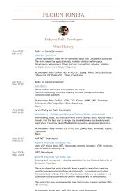 Ruby On Rails Developer Resume samples