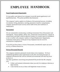 Sample Employee Handbooks Employees Handbook Template Employee Receipt Construction