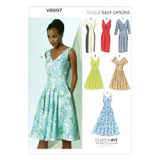 Vogue Pattern Simple Amazon Vogue Patterns V48 Misses' Dress Sewing Template Size