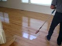 hardwood floors applying final coat