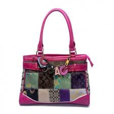 Top Coach Holiday In Monogram Large Fuchsia Satchels DJW