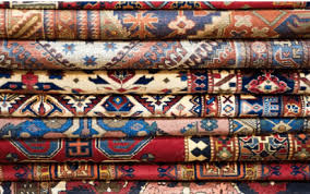 stacked rugs
