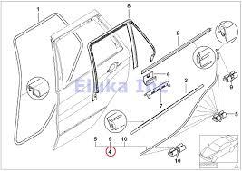 Bmw genuine rear left lower door trim weatherstrip seal with clips x5 3 0i x5 4 4i x5 4 6is x5 4 8is amazon co uk car motorbike