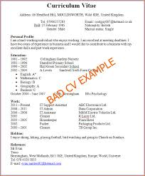 A Cv For First Job Resume High School Students Easy Photo Include