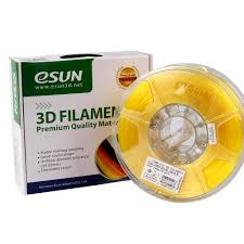 Катушка <b>PLA</b>-<b>пластика</b> ESUN 1.75 мм 1кг., <b>прозрачно</b>-<b>желтая</b>