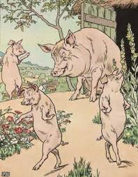 original ilration of three little pigs bedtime story