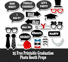 free printable graduation photo booth props