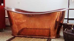 image of antique copper bathtub