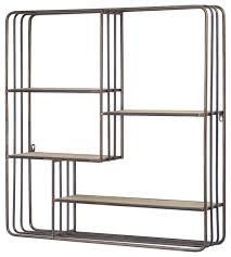 metal multi unit hanging wall shelf
