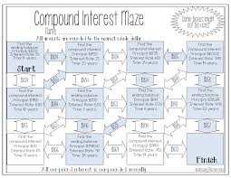 these simple compound interest mazes would be such a fun activity for my 8th grade