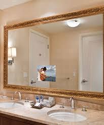 large framing bathroom mirror