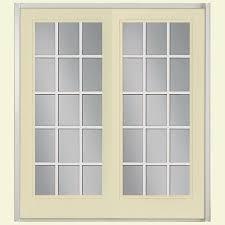 golden haystack steel prehung left hand inswing 15 lite clear glass patio door vinyl frame brickmold
