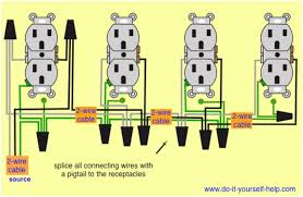wiring outlets in parallel diagram the wiring diagram wiring diagrams multiple receptacle outlets do it yourself help wiring diagram