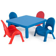 MyValue Set 4 Preschool and Toddler Table \u0026 Chair by Angeles All Myvalue By Options