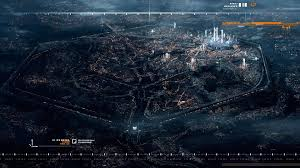 future city from above wallpaper