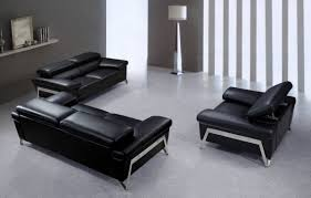 modern black leather sofa. Beautiful Black On Modern Black Leather Sofa