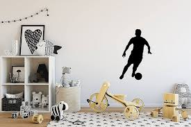 chandelier wall stickers luxury soccer player running silhouette wall decal small vinyl
