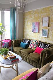 bright colored furniture. house tour kim hughes this chesterfield sofa i wantz it bright colored furniture