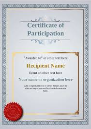 Certificate Of Participation Templates Participation Certificate Templates Free Printable Add