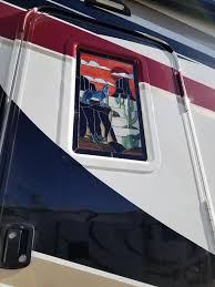 note another option of ing one is sometimes there is a stained glass vendor at rv rally s though their s are double they are made in the u s and