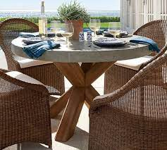 acacia round dining table brown
