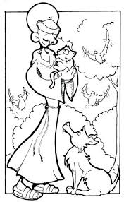 Francis Of Assisi Coloring Page Saint Of Coloring Pages St Francis