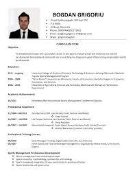 Curriculum Vitae Template International Resume Pdf Download