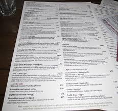 Fancy Restaurant Menu