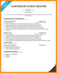 medical assembler resume assembly medical assembly job resume sample