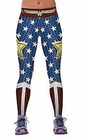 Wonder Woman Logo W Stars Yoga Pants Osfm Leggings Premium Quality Ebay