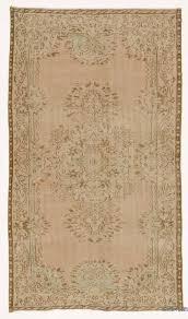 beige over dyed turkish vintage rug 4 11 x 8