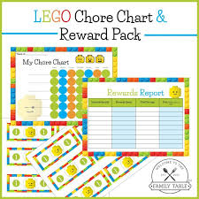 Downloadable Reward Charts Free Lego Chore Chart Reward Pack Welcome To The Family Table