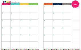 2 Page Monthly Calendar Template Calendar
