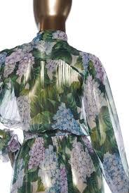 Dolce Gabbana Hydrangea Print Jumpsuit