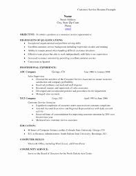 Sample Customer Service Resume Inspirational Sample Resume Skills
