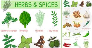 List Of Herbs And Spices Names Of Spices And Herbs 7 E S L