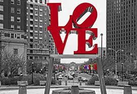 philadelphia love park wall art