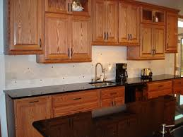 oak cabinets with granite countertops elegant stunning kitchen backsplash with oak cabinets rajasweetshouston